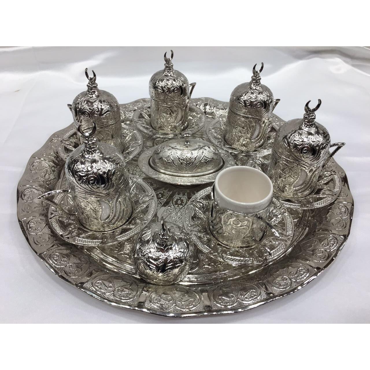 Ручной Работы Медные османские чашки для турецкого кофе набор/6 шт арабский кофе набор чайных чашек эспрессо сделанный в Турции