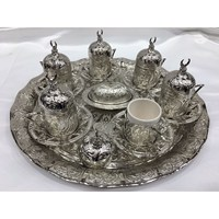 Handmade Kupfer Ottomane Türkischen Kaffee Tassen Set/6 stücke Arabisch Kaffee Set Tee Tassen Espresso Set in Der Türkei|Kaffeetasse & Untertasse Sets|Heim und Garten -