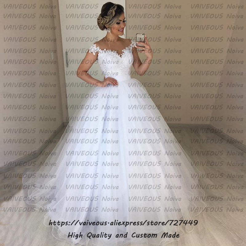Vestido De Novia 2019 Cheap Boho Wedding Dress Sexy Bride Dress Lace Beaded Short Sleeves Ball