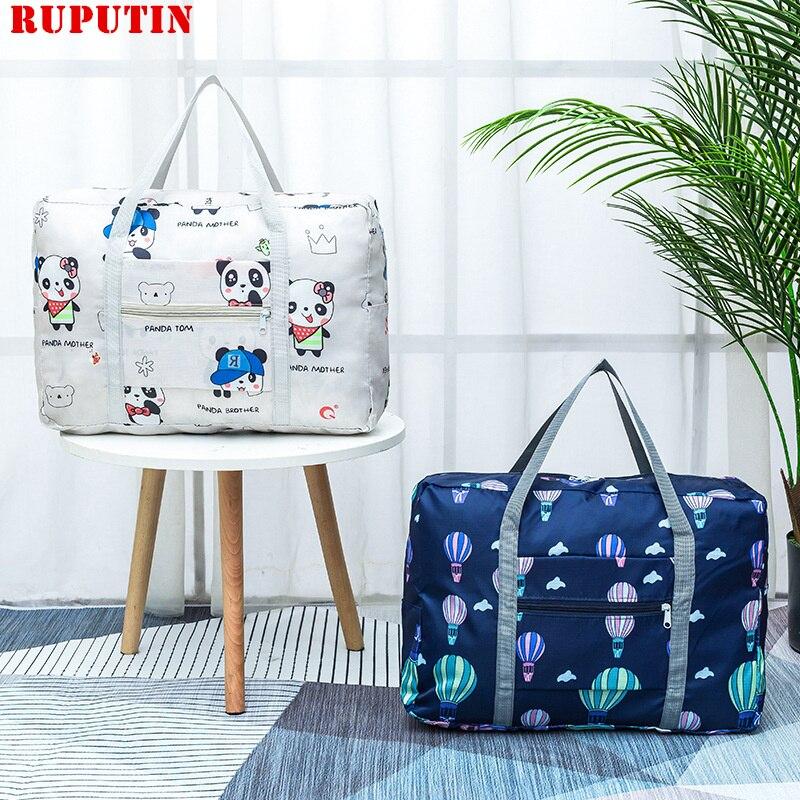 New Folding Travel Bag Clothes Sorting Bag Luggage Storage Organizer Folding Bags Shopping Shoulder Bag Travel Cosmetic Bag