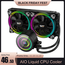 PC Case CPU Radiator Aio Cooler Water-Liquid-Cooling Darkflash Pwm Rgb for AM4/AM3