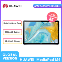 Global Version HUAWEI Tablet MediaPad M6 10.8 Kirin 980 Octa Core Android 9.0 Type C 7500mAh 2560x1600 Fingerprint IPS Screen