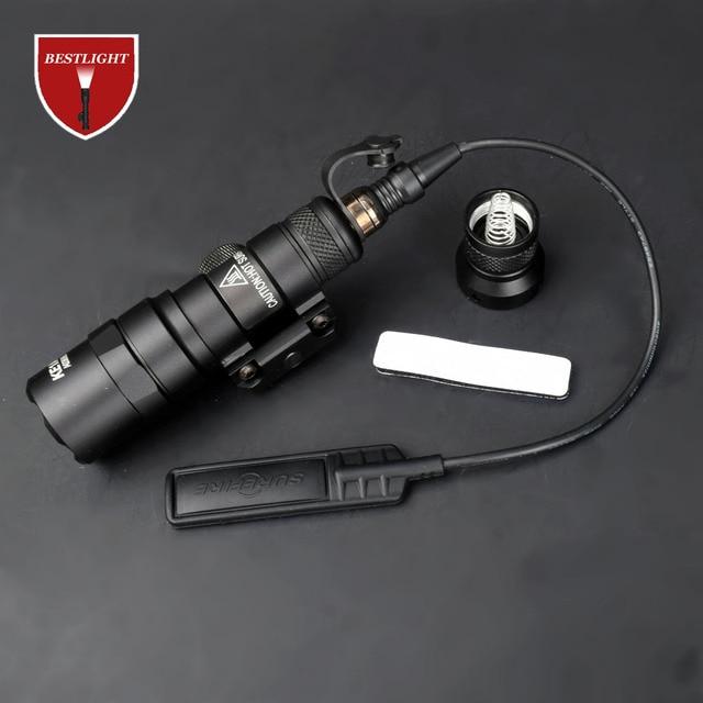 Surefir M300 M300B Mini Scout Light LED 280lumens Weapon Tactical Torch Flashlight Outdoor Hunting Rifle light 1