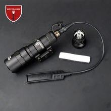 Pressão dupla função interruptor de fita scout luz m300 m300b lanterna constante/saída momentânea para picatinny ferroviário