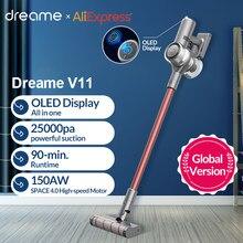 Dreame V11 ручной Беспроводной пылесос 25kPa OLED Дисплей все в одном пылесборник Портативный беспроводные чистой на коврике арабских цифр