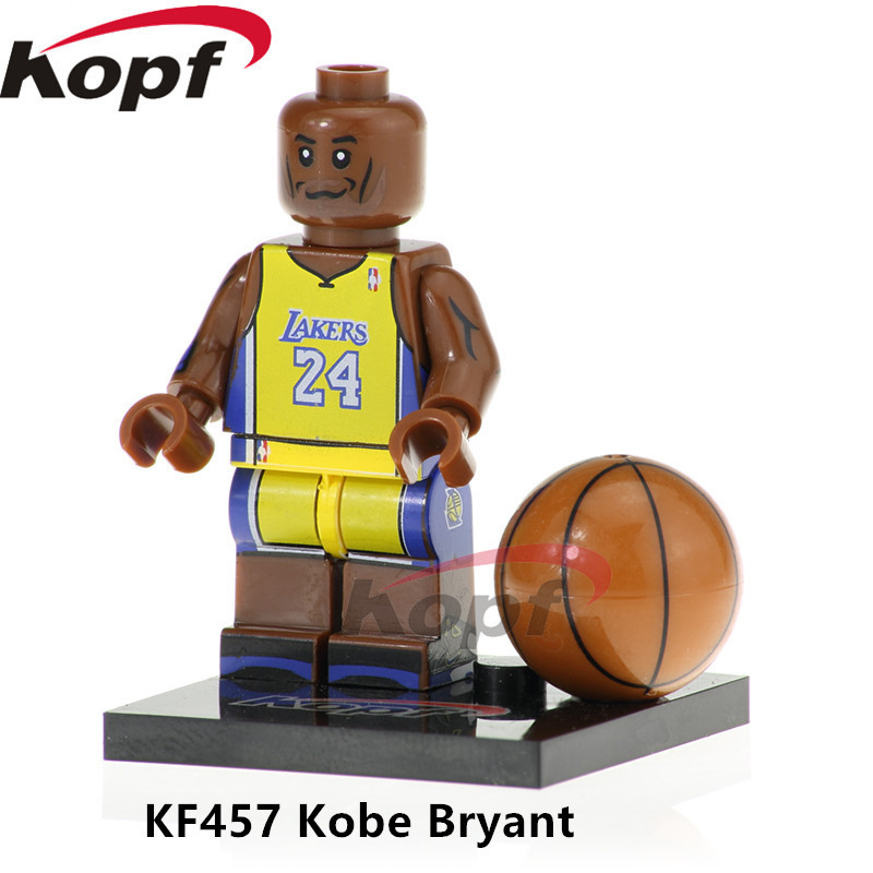 KF457 Single Sale Building Blocks Professional Basketball Player Kobe Bryant Labron James Figures Jorden Bricks Children Toys
