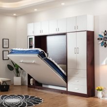 Современная трансформируемая Скрытая стеновая кровать с электрической системой, Комбинируемая мебель