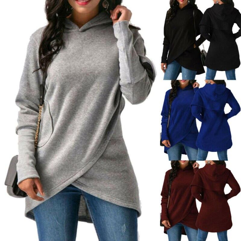 Women Hoodies Fahshion Sweatshirt Ladies Hoodies Pullover Tops Women Sweatshirt Tops Autumn Sports Hoodies Pullover Tops