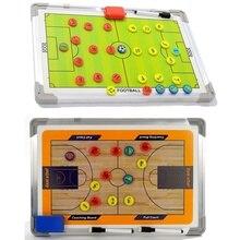Aluminum Football Basketball Tactics Magnetic Board Football Coach Referee Board Football Training Equipment Accessories