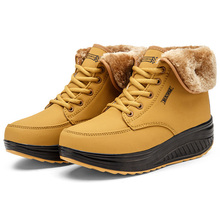 Round-Toe Ankle Boots Women Shoes Low Heel British-Style Casual Warm Fur Sneakers Women Snow Boots Women's Winter Boots Booties new women fringe western booties female casual suede low heel round toe boots shoes women ankle boots zipper platform shoes