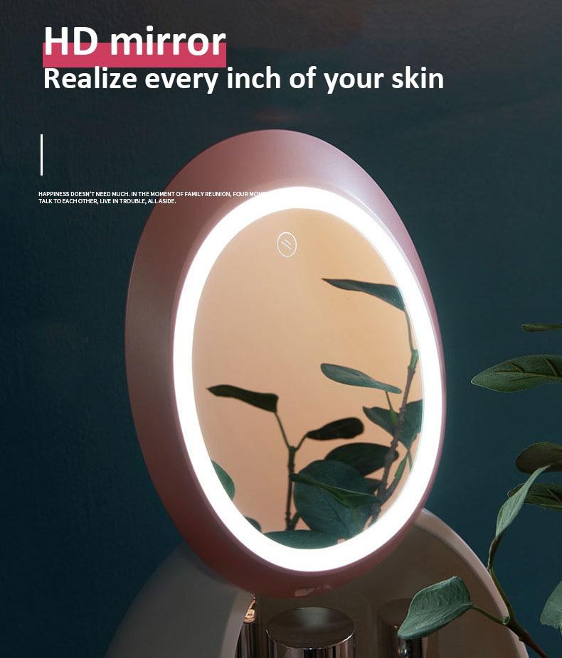 Rangement cosmétique avec miroir de LED HD