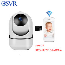 Mini Baby Monitor IP Camera Auto Tracking HD 1080P Indoor Rumah Nirkabel Wifi Kamera Pengawasan Keamanan Putih Kamera Babyphone(China)