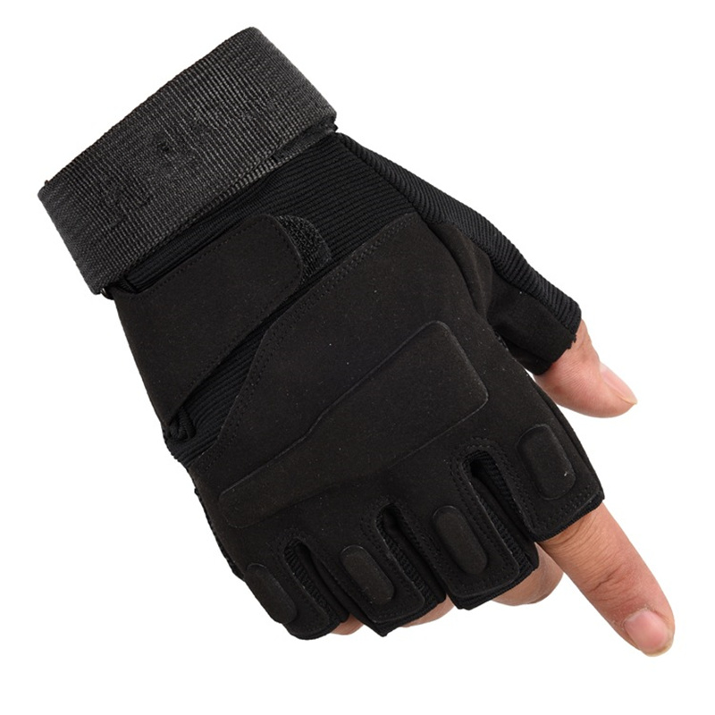 Newly Army Military Fingerless Tactical Gloves Fitness Gym Gloves Men Women Antiskid Anti-Slip Cycling Half Finger Men's Gloves