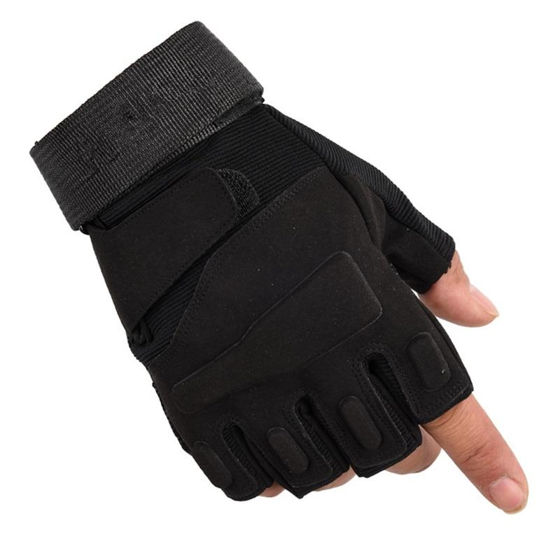 Newly Army Military Fingerless Tactical Gloves Fitness Gym Gloves Men Women Antiskid Anti-Slip Cycling Half Finger Men's Gloves