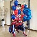 1Set 3D Große Spiderman Super Hero Folie Ballon Die Avengers Anzahl Geburtstag Party Dekoration Kinder Iron Man kinder spielzeug Geschenke