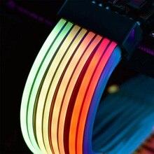 LIANLI Strimer Plus Triple 8pin, cavo RGB prolunga scheda madre 24pin, estensione GPU 8pin + 8pin, supporto controllo scheda madre