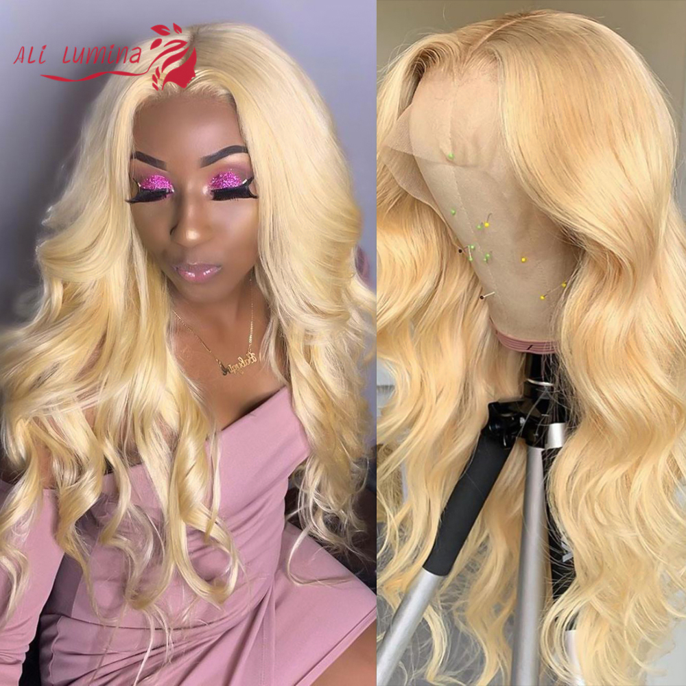 613 Honey Blonde lace front wig  Body Wave Lace Front  Wig 8-26 inch Ombre Frontal Wigs for Black Women 1
