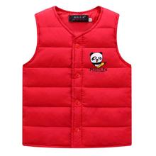 Baby Boys Vest Coat 2020 Autumn Winter Children #8217 s Clothing Boy Waistcoat Cartoon Sleeveless Kids Cotton Vests Down Jacket cheap SHENGMEIHAO Cashmere V-Neck Fashion Outerwear Coats Fits true to size take your normal size Thin and light Oxford REGULAR
