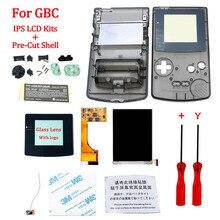 Kits LCD IPS V2 avec coque pour écran de rétroéclairage LCD GBA SP IPS avec coque prédécoupée pour boîtier de Console GBASP avec boutons