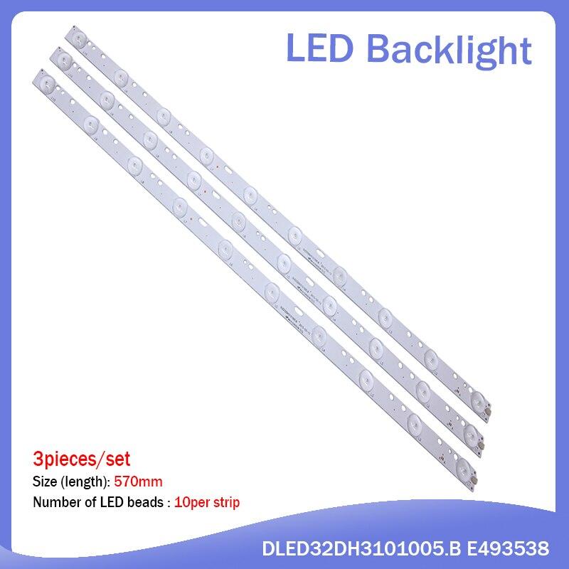 New 3 Pieces/set 1PCS=10LED 570mmLCD TV LED Back Light D304PHHB01F5B KJ315D10-ZC14F-03 303KJ315031 D227PGHBYZF6A E348423