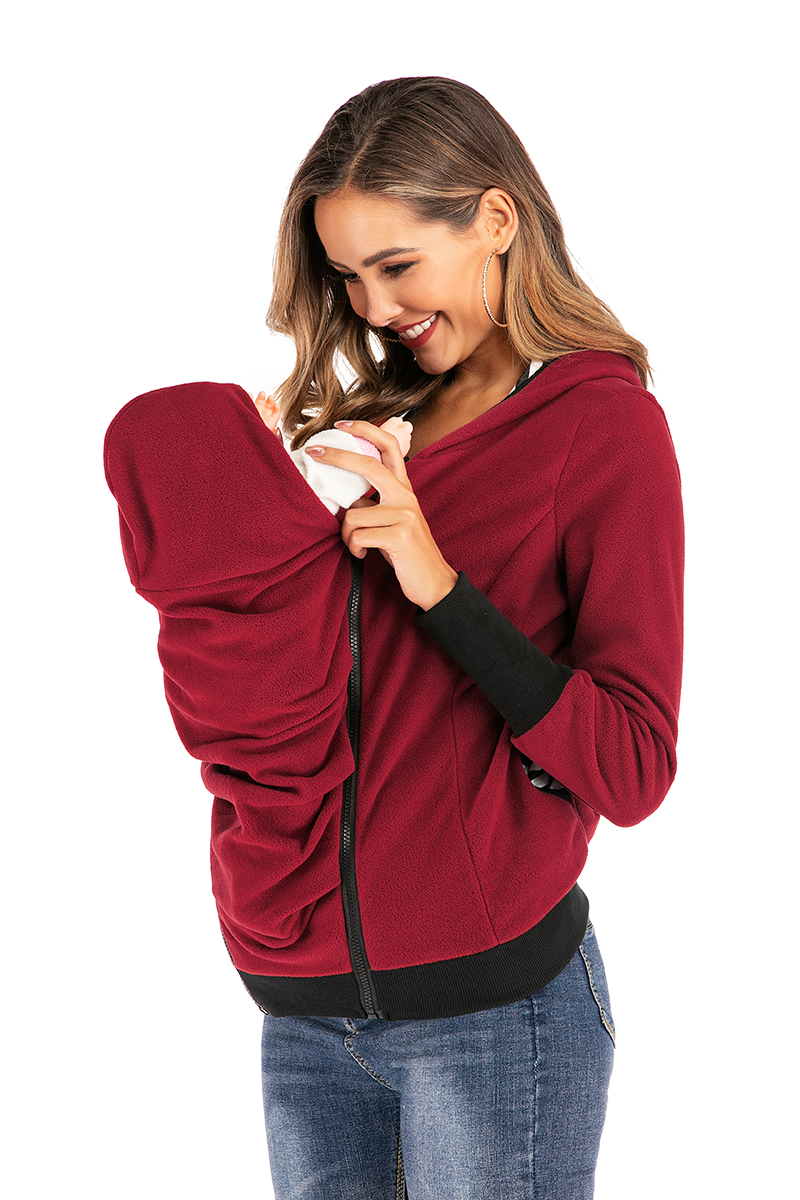 6079# Autumn Winter Warm Maternity Nursing Hoodies Sports Casual Sweatshirts Clothes for Pregnant Women Pregnancy Tops Jackets