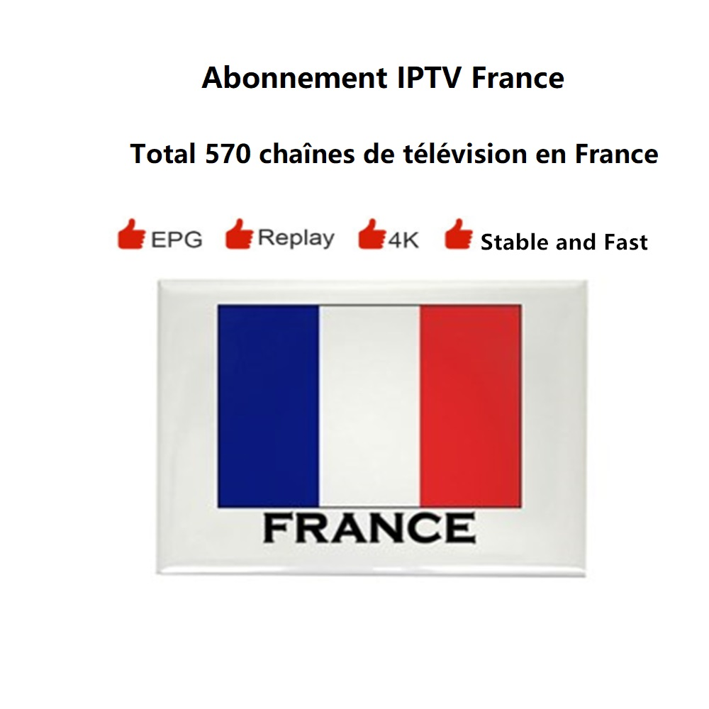 France IPTV Subscription 12 Months M3U Smarter Pro Support PC Smart TV Android TV Box Amazon Firestick Enigma2 Set Top Box