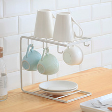 High-quality Household Iron Art Kitchen Cup Tray Rack Coffee Display Appliance Desktop Storage Racks