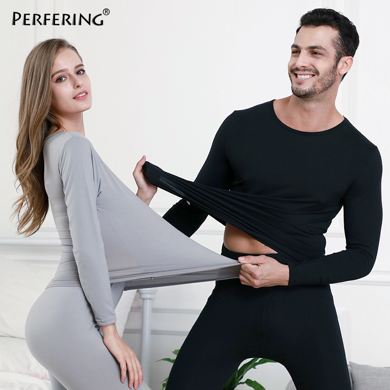 Perfering 2 Piece/Set Long Johns For Male Female Warm Thermal Underwear Clothing Men Woman Winter Plus Size  L- 6XL Thermal Suit