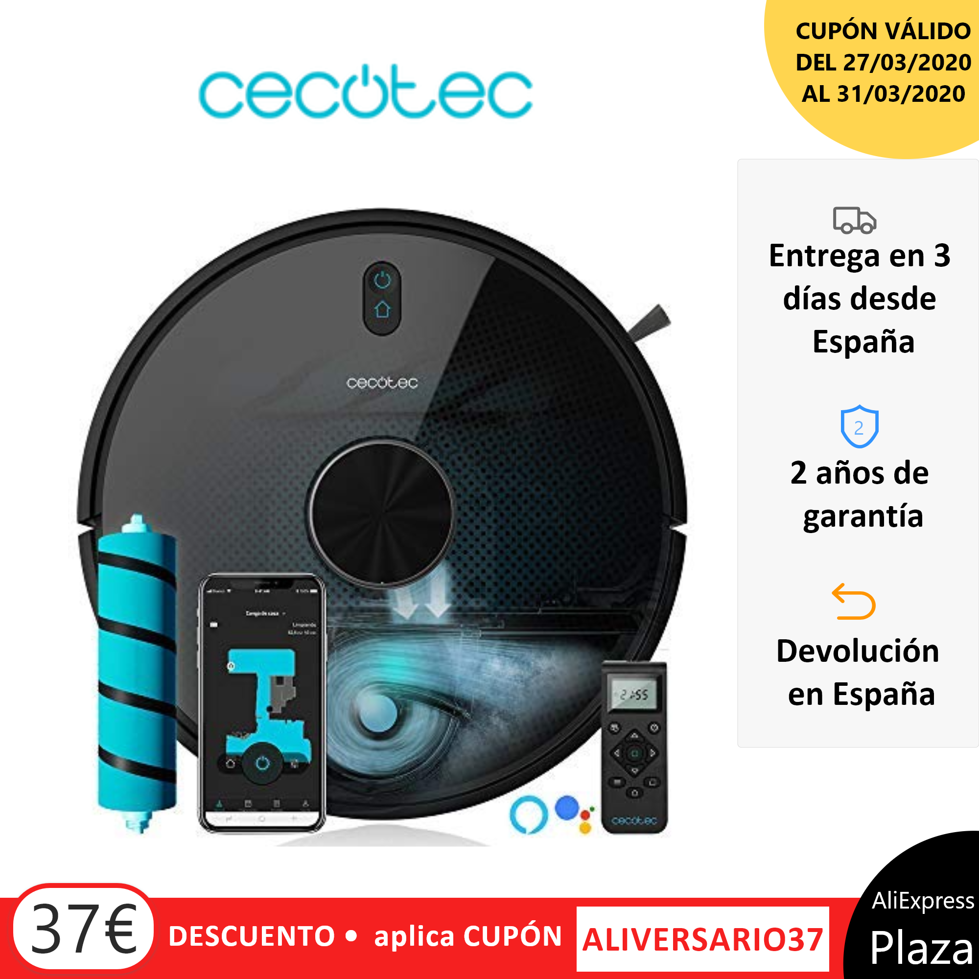 Cocotec robô aspirador conga. Elige 5090-4090-3690-3490-3290 gestión, aspira, barre, friega, cepillo jalisco
