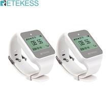 2 pièces RETEKESS TD108 sans fil montre récepteur serveur système dappel Restaurant téléavertisseur Service à la clientèle multi langue pour Bar