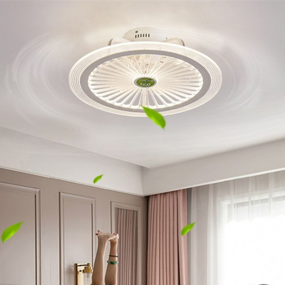 App Ceiling Fan Lamp With Lights Bedroom Decor Smart Ventilator Lamp Remote Control Lights Ceiling 50cm With Control Ultra Thin Diversified In Packaging