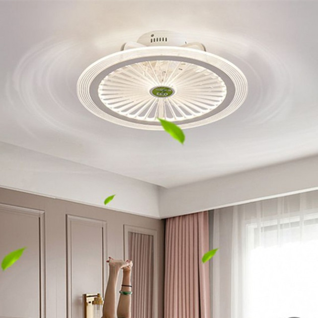 app ceiling fan lamp with lights bedroom decor smart ventilator lamp remote control lights ceiling 50cm with control Ultra thin