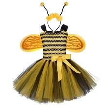 Headband Birthday-Party Fancy-Accessory Cosplay Princess Halloween Tutu-Dresses Bee-Costume