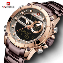 NAVIFORCE Men Watch Top Luxury Brand Men's Sports Military Watches Full Steel Waterproof Quartz Digital Clock Relogio Masculino naviforce top brand luxury gold steel waterproof watches men quartz watch mens army military wristwatch clock relogio masculino