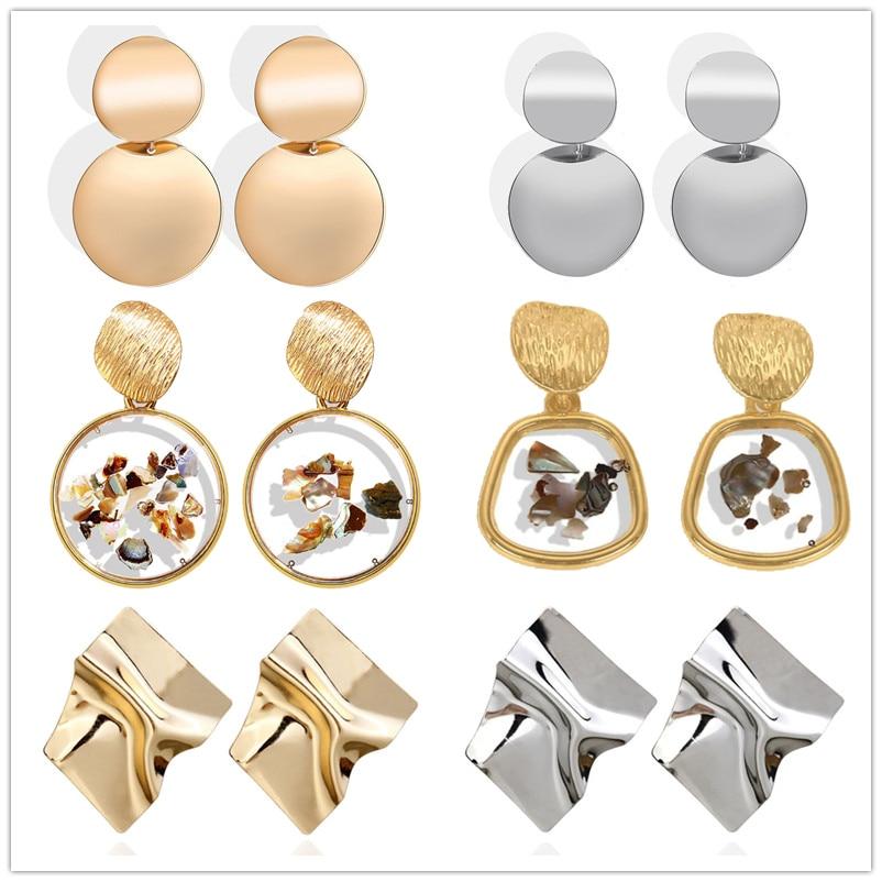Big Drop Earrings for Women Geometric Statement Earrings female 2020 Fashion Modern Jewelry hanging kolczyki oorbellen 1