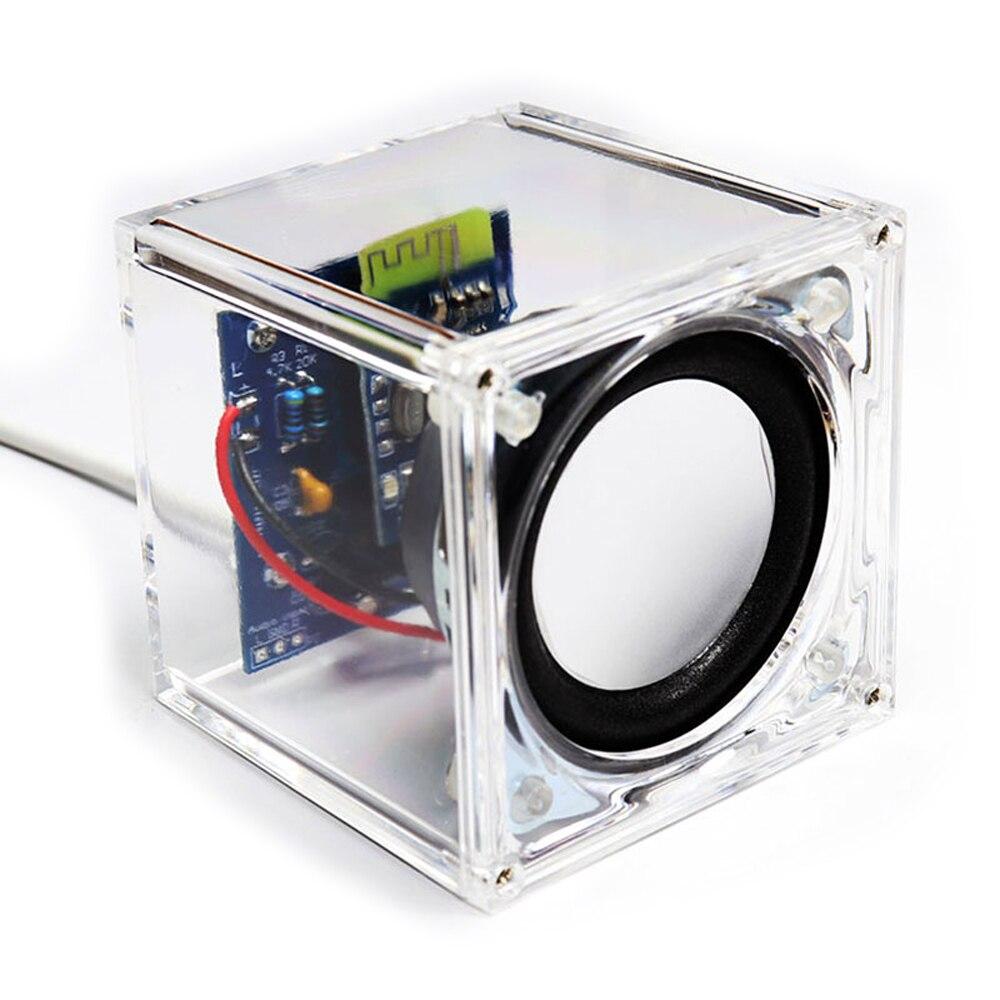 """diy electronic kit set diy speaker kit amplifier board bluetooth 6x6x6 LM4863 2"""" 3w speaker soldering project"""