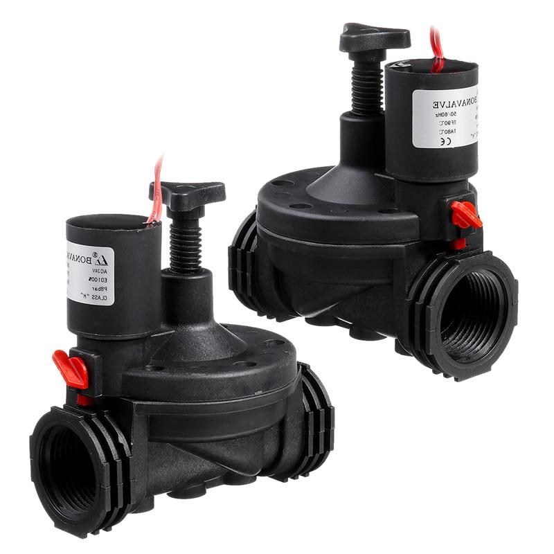 Newest 1'' Industrial Irrigation Valve 12V/24V AC Solenoid Valves Garden Controller For Garden Yard Garden Water Timers