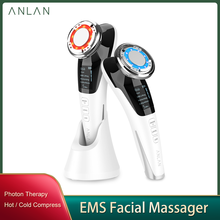 Anlan EMS Facial Massager Micro Current Beauty Face Massager Sonic Vibration Wrinkle Remover Hot Cool Face Lifting Device