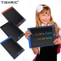 """Tishric 12 """"Polegada lcd mesa de desenho para crianças placa de escrita tela colorida digital gráfico tablet para almofadas de desenho crianças presentes brinquedos"""