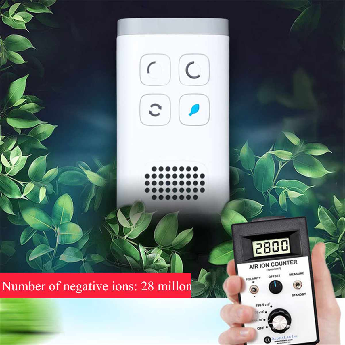 Air Purifier and Ozone Generator with 28 Million Negative Ions for Deodorizing Home and Bathroom 8