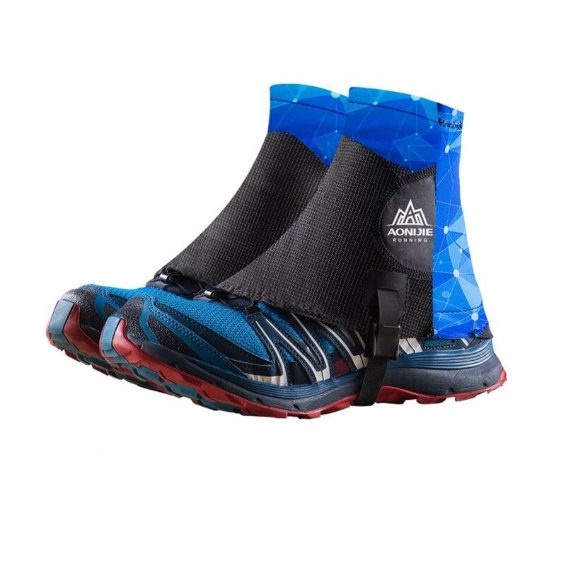 Aonijie Trail Running Sandproof getry wysokie ochronne pokrowce na buty Outdoor Unisex odblaskowe na maraton Camping piesze wycieczki E941