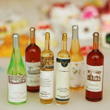 6Pcs 1/12 Dollhouse Accessories Miniature Mini Resin Whiskey Wine Bottle Furniture Simulation Model Toys for Doll House Decorati