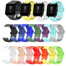 лучшая цена Silicone Soft Strap for Xiaomi Huami Amazfit Bip BIT Lite Youth Smart Watch replace Wrist Bracelet Amazfit Watchband 20mm Strap
