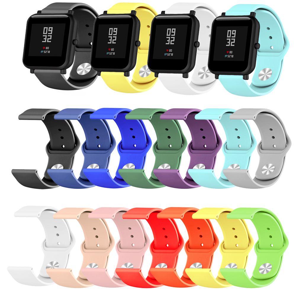 Silicone Soft Straps For Correas Xiaomi Huami Amazfit Bip BIT Lite Youth Smart Watch Replacement Wrist Bracelet Watchband Strap