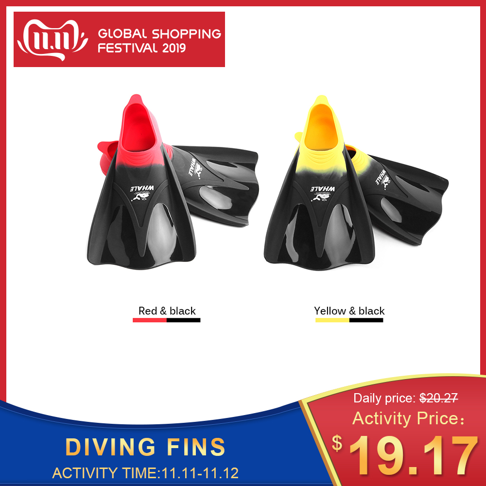 Swimming Fins Adult Snorkeling Foot Flipper KIDS Diving Fins Beginner Swimming Equipment Portable Short Frog Shoes