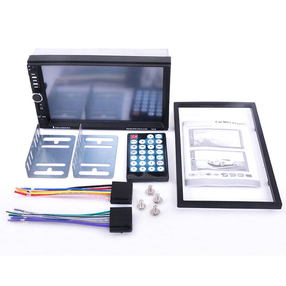 Mp5 Car Display Car Dual Spindle Mp4 Card Multimedia Player Multimedia Player 7 Inch Mp5 Car Display 7018B