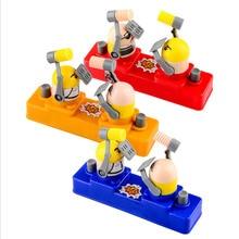 Divertidos juegos de mesa interactivos para padres e hijos juguete prensa a mano doble martillo juguetes educativos de villano para niños regalo de cumpleaños