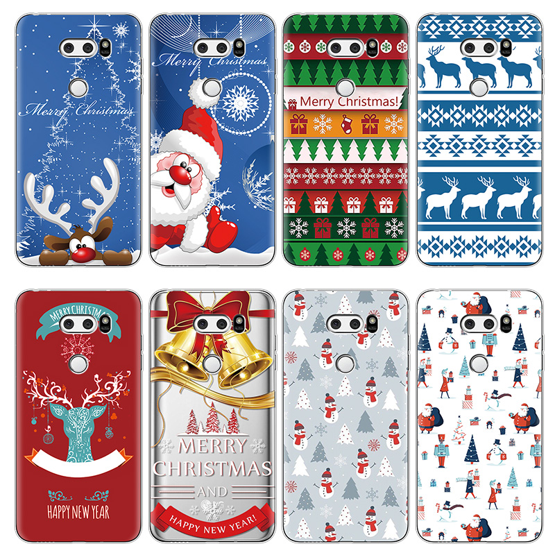 Merry Christmas Tree Soft TPU Cases for <font><b>LG</b></font> X Power 2 V30 V20 G4 G5 G6 G8 ThinQ Q6 Q7 K4 K8 K10 <font><b>K11</b></font> Plus 2017 Nexus 5X Case Cover image