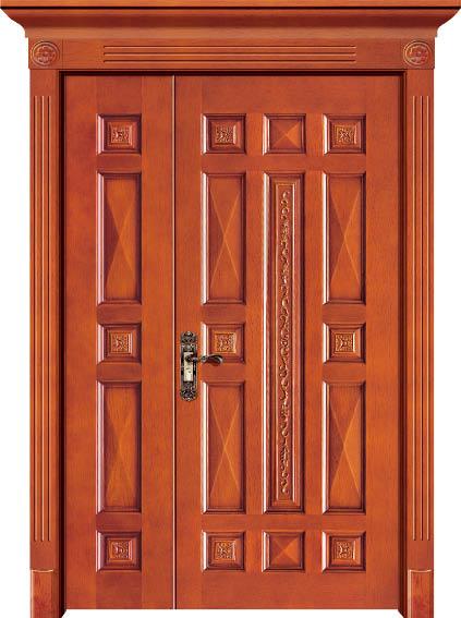 Luxury Carving Designs Thailand Oak Interior Single Solid Wood Door Entry Doors C004