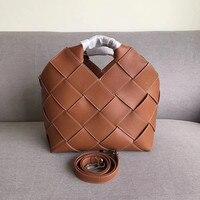High quality Genuine leather handbags Women portable Bucket Bag Luxury designer woman handbag fashion cowhide shoulder bag